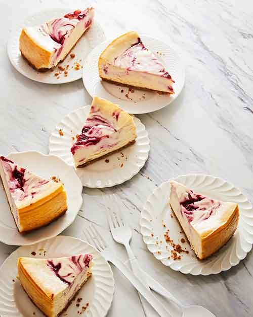 Overhead shot of Cheesecake