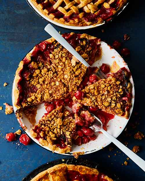 Overview shot of Cherry Pie